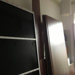 Back panels and sliding doors, about 100cm wide, each