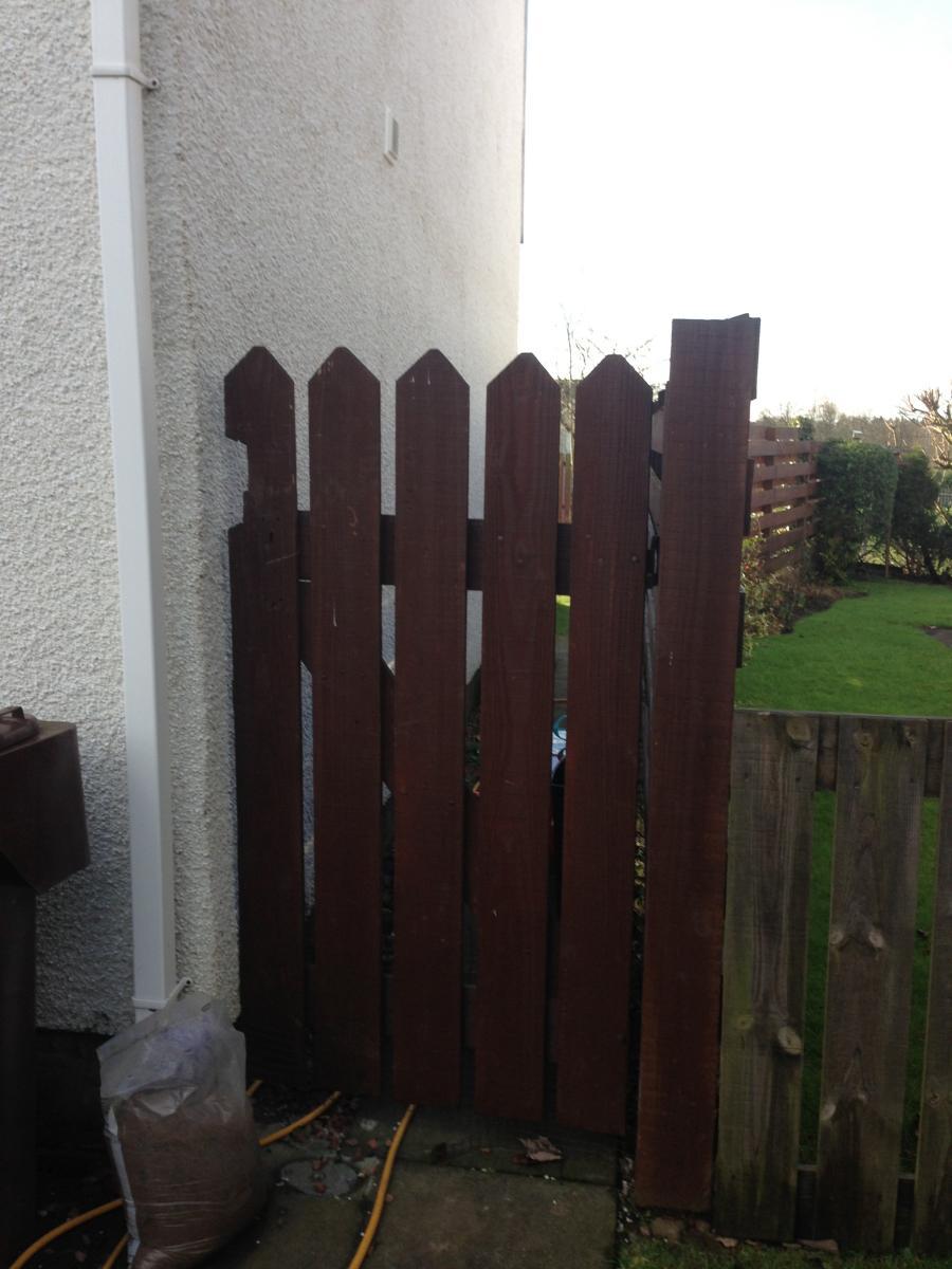 Old Door - was too big & no latch